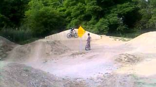 kid falls at canatara bike park