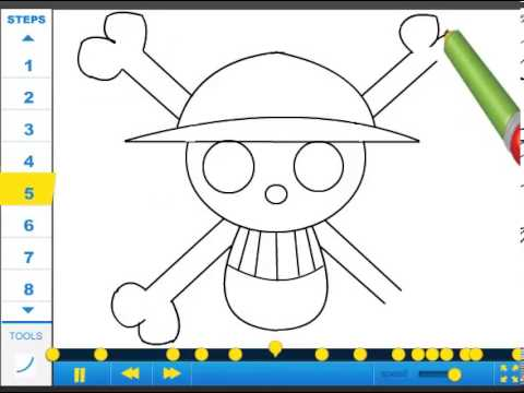 How To Draw Straw Hat Pirate Crew Symbol Drawing Tutorial Video