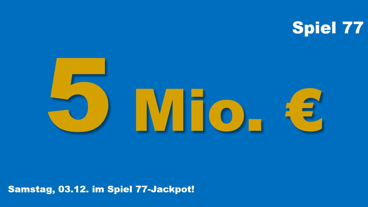Jackpot Lotto Am Samstag