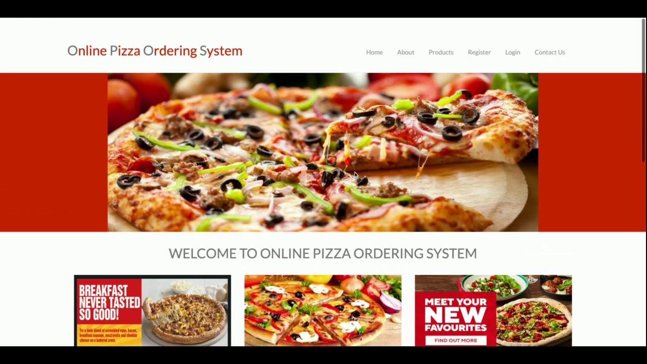 Python Django and MySQL Project on Online Pizza Ordering System