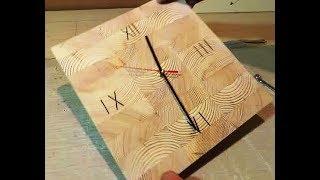 Как сделать часы своими руками из дерева