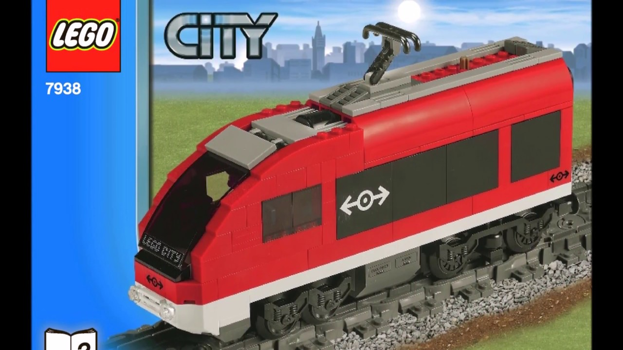 Lego City Passenger Train 7938 Instructions Diy Book 2 Youtube