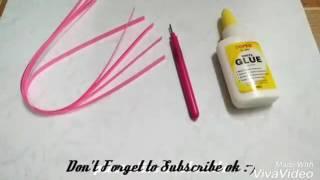 Paper Quilling~Cara Membuat Bunga Cantik Sederhana Dengan Kertas Paper Quilling