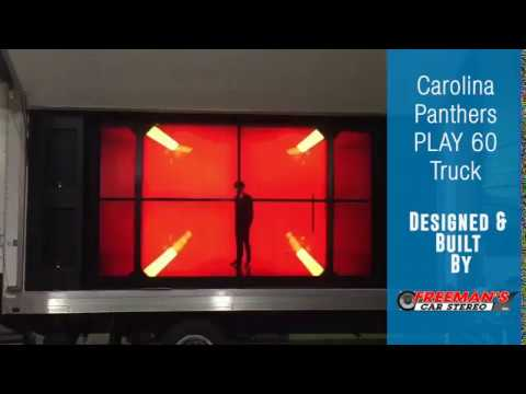 Carolina Panthers PLAY 60 Truck By Freeman's Car Stereo