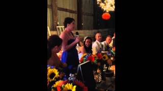 "Walker wedding maid of honor song to Dixie chicks ""Goodbye Earl"""