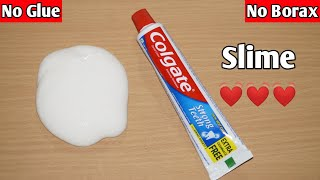 How To Make Slime Without Glue Or Borax l How To Make Slime With Toothpaste l How To Make Slime