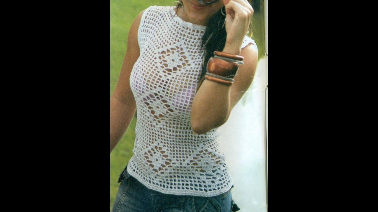 Blusa Diana calada tejida a crochet vídeo 1 | FunnyCat.TV