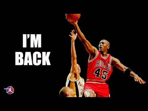 barro autómata Transición  MICHAEL JORDAN I'M BACK - YouTube