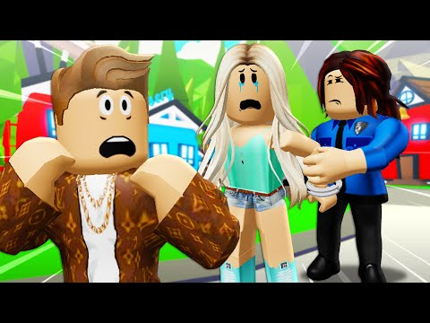 His Girlfriend Was Arrested In Adopt Me?! (A Roblox Movie)