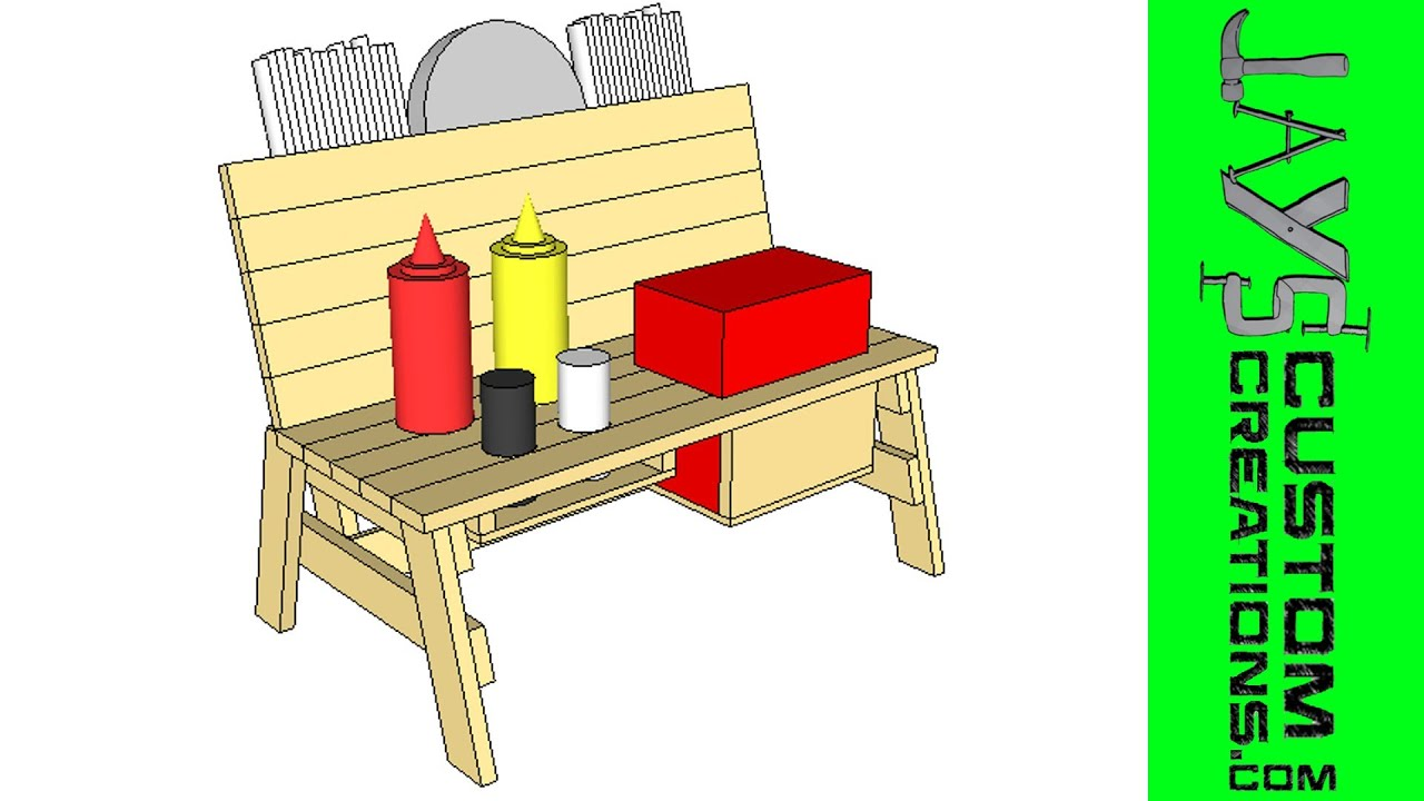 SketchUp Mini Bench Condiment Holder YouTube - Condiment holder for table