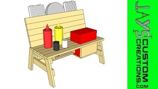 Sketchup - Mini Bench Condiment Holder - 092