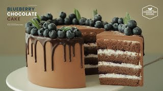 블루베리 초코 케이크 만들기 : Blueberry Chocolate Cake Recipe | Cooking tree