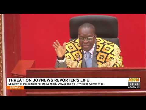 Speaker of Parliament refers Kennedy Agyapong to Privileges Committee- Adom TV (15-7-21)
