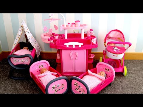 Thumbnail: Baby Dolls Nursery Center With Wardrobe, Change Table, Bath & Highchair Baby Born Baby Annabell