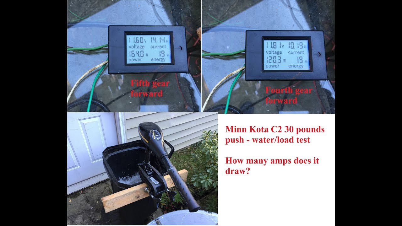 medium resolution of minn kota endura c2 30 pound trolling motor how many amps does it use in water part 2