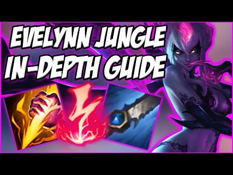 GUIDE ON HOW TO PLAY EVELYNN JUNGLE IN SEASON 8! VERY STRONG ASSASSIN JUNGLER  - League of Legends