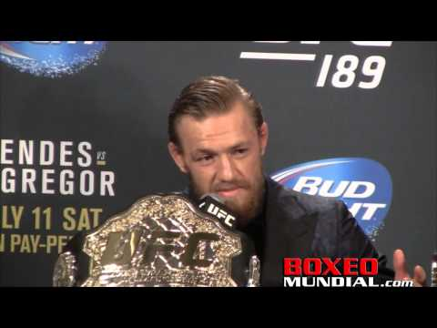 Conor Mcgregor talks Chad Mendes victory at UFC 189 post fight presser