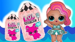 LOL Surprise Fuzzy Pets  Zabawy na basenie ⛱️ bajka po polsku