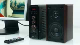 Sven MS-3000 – активная 2.1 акустика с внешним блоком(Как и в предыдущей модели Sven MS-2000, здесь также есть FM-тюнер и встроенный MP3-плеер, что превращает колонки..., 2014-11-16T21:50:40.000Z)