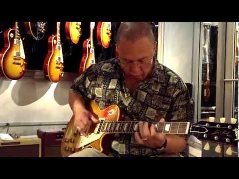 "Guitar legend Caleb Quaye playing Gibson Les Paul ""Red Eye"""