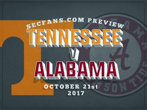 Alabama vs Tennessee - Computer Model - Preview & Prediction - 2017 UT Bama
