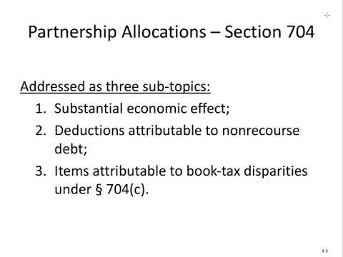 Partnership Allocations - Intro & Substantial Econ Effect