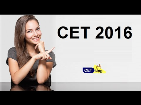 CET 2016 paper pattern cutoff n analysis