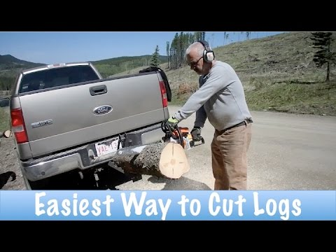 Easiest Way To Cut Logs For Firewood How To Youtube