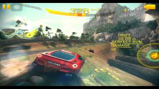 【ASPHALT8】アスファルト8 万里の長城 Ferrari F12berlinetta レースタイム・クリアに挑戦