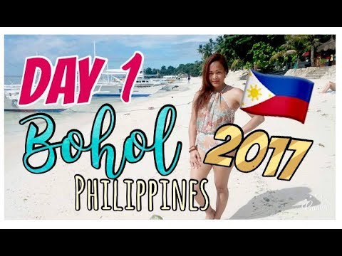 DAY 1: BOHOL, Philippines 2017 | Checking in @ our hotel |Night swimming @ Alona Beach in HD