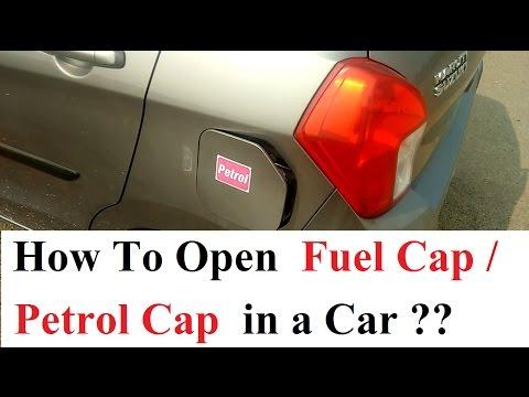 How to open and close Fuel Cap/Petrol Cap in a Car??