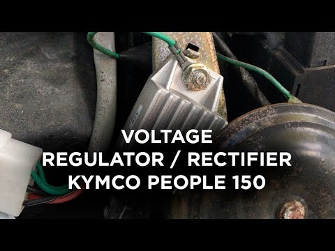 Voltage Regulator / Rectifier on Kymco People 150 Scooter - YouTube