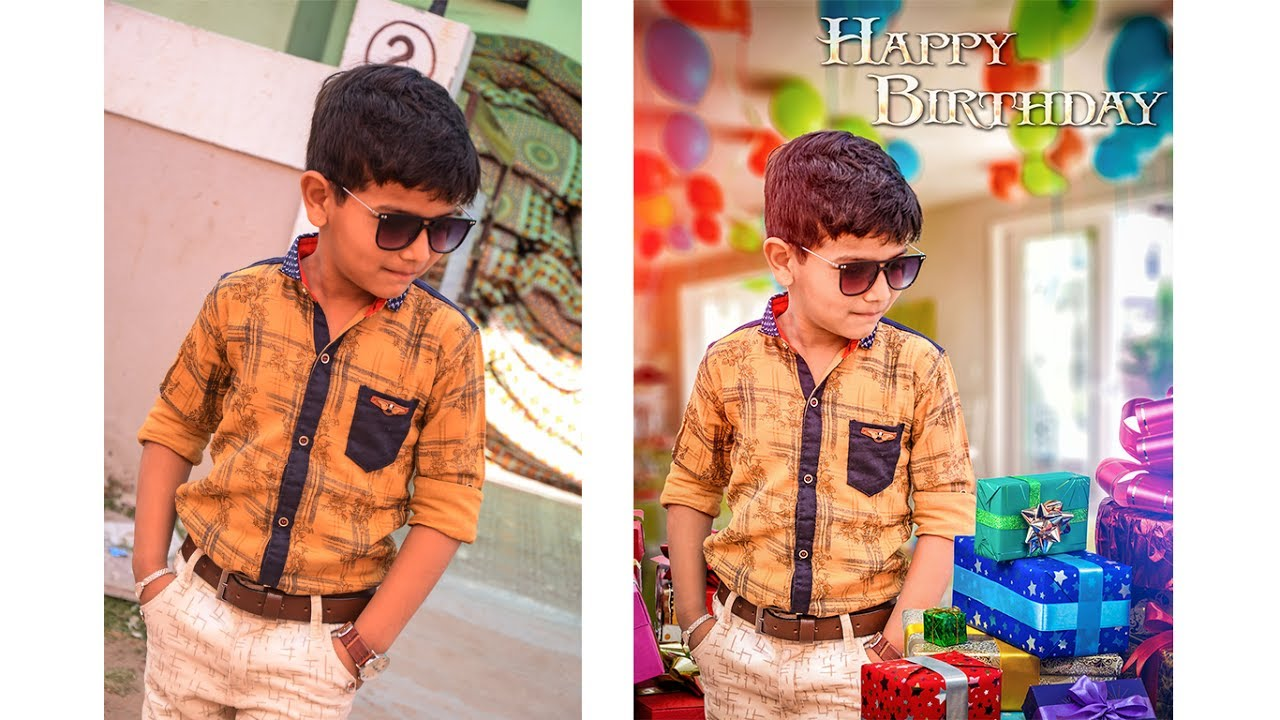 Birthday Editing Photoshop