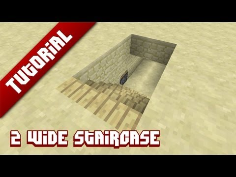 Minecraft Tutorial: 2 Wide hidden staircase - YouTube