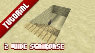 Minecraft Tutorial: 2 Wide hidden staircase