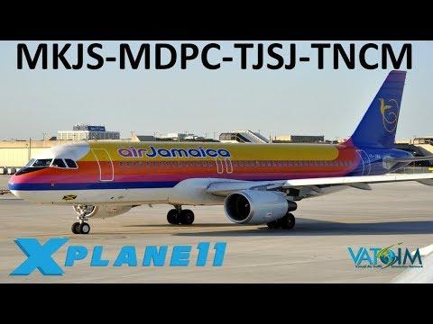 X-Plane 11 | Tropical Island Hops!! | St.Maarten! | A320 B737 A330 | VATSIM | Caribbean Fun!!