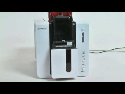 Evolis PRIMACY ID Badge Printer  - How to do a routine printer cleaning
