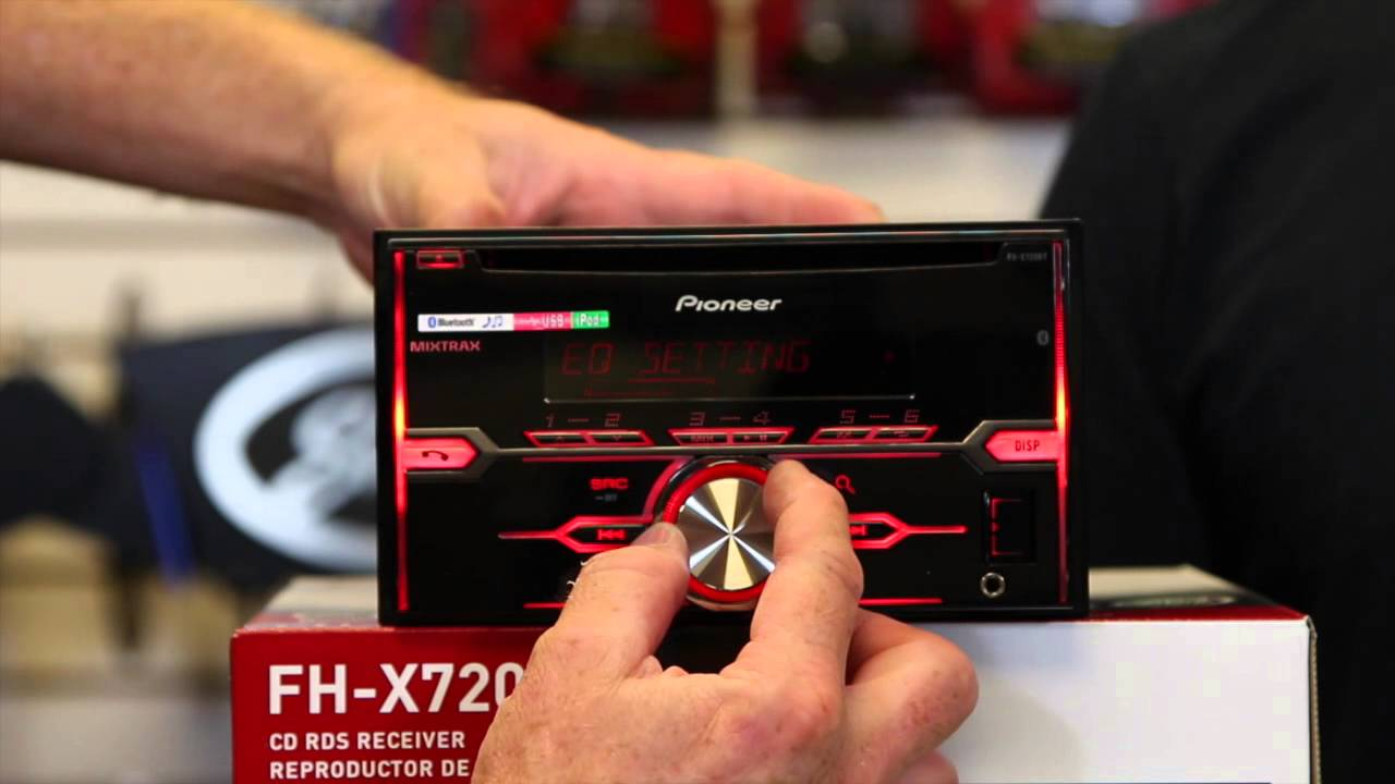 maxresdefault pioneers new fh x720bt double din bluetooth cd play youtube pioneer fh x720bt wiring diagram at bayanpartner.co