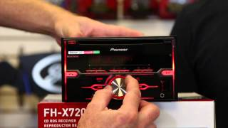 Pioneers new FH X720bt double din Bluetooth cd play