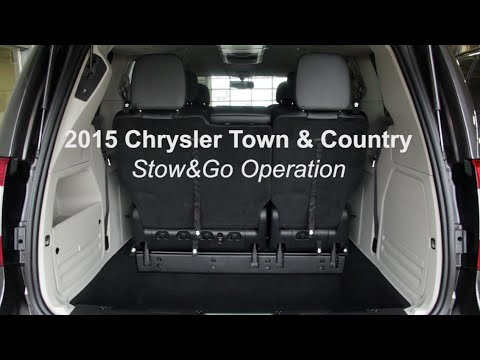 2015 Chrysler Town and Country Stow and Go Operation