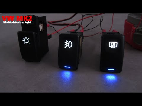 How to volkswagen golf / jetta switch light cover led application