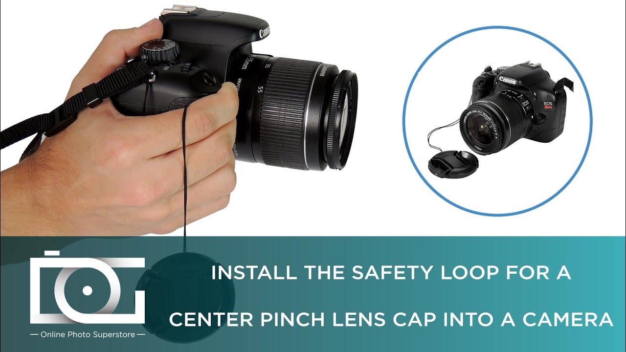 TUTORIAL | Lens Cap Keeper Leash & Center Pinch Lens Cap | How To Use a  Lens Cap w/ a String?