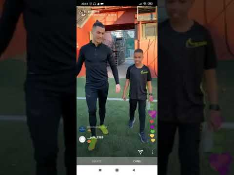 Cristiano Ronaldo and Tekkerz kid plays in football Live streaming CR7