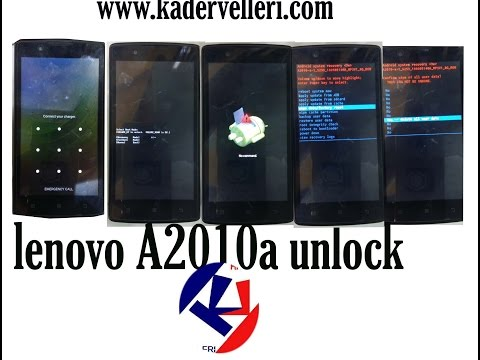 how to remove pattern lock on lenovo A2010