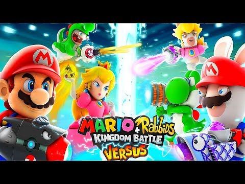 Father and Son Gameplay of Mario Rabbids + Kingdom Battle Versus Mode Superbrawl