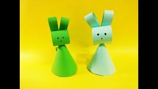쉬운 입체 토끼 종이접기 Easy three-dimensional rabbit origami-3D paper DIY