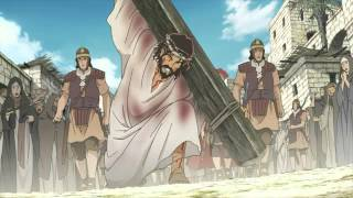 Crucifiction Jésus-christ dessin animée