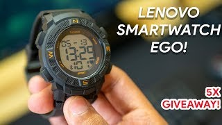 Lenovo Ego Smartwatch Review! At just Rs 1,999! 5x Giveaway!