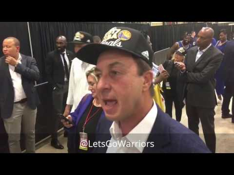 Joe Lacob, postgame 2017 Western Conference championship, Warriors (4-0) vs Spurs Game 4