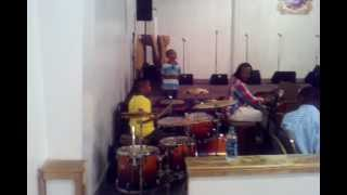 11yr old drummer shedding on shouting music after church